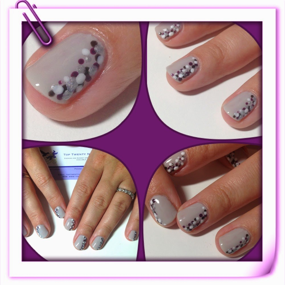 Toptwentynails nail art with shellac quick and easy dot design nail art with shellac quick and easy dot design prinsesfo Images