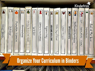 notebook spines and covers to organize teacher curriculum