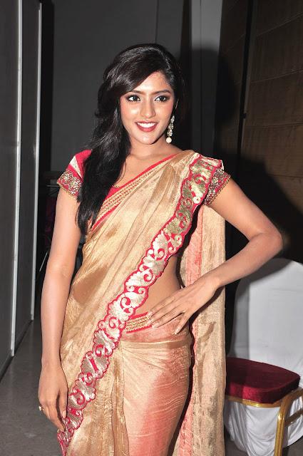 Eesha looks Spicy in Saree at Hori Hori Audio Launch