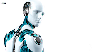 3D Eset Nod32 Robot Mascot and Logo HD Wallpaper