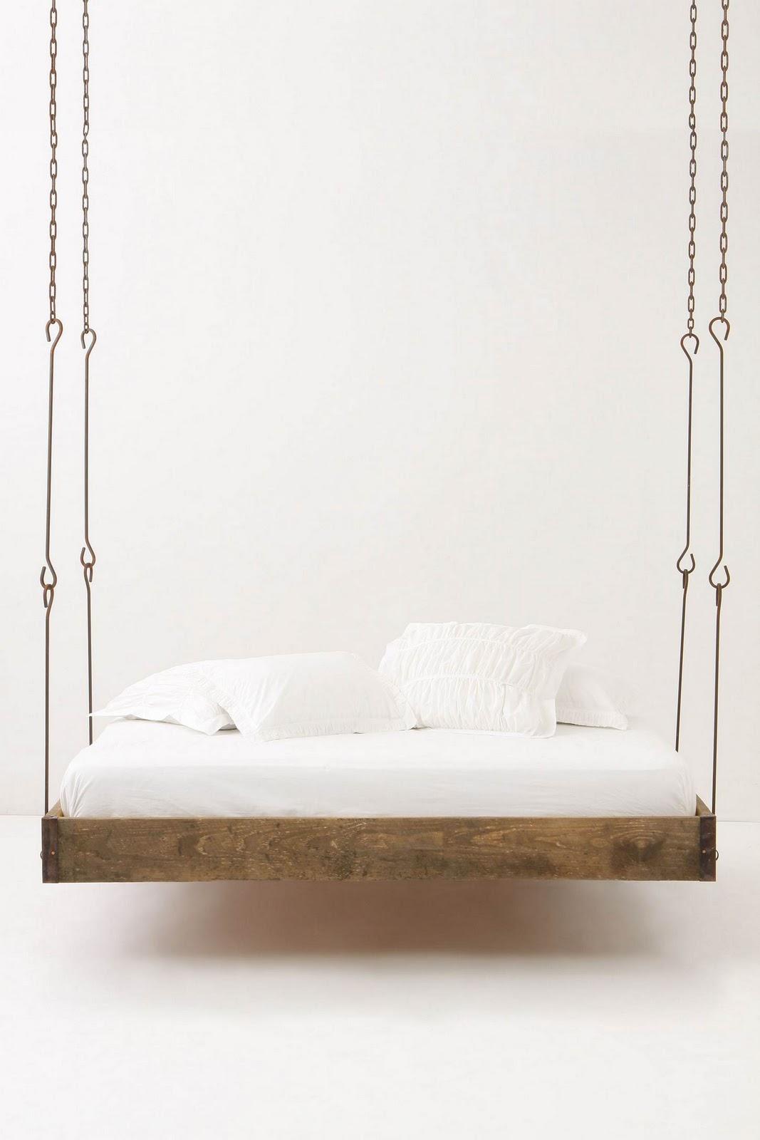Barnwood hanging bed blue badger for Hanging bed