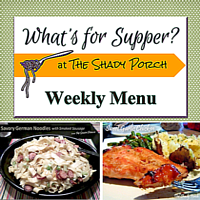 What's For Supper? Menu - October 27, 2014
