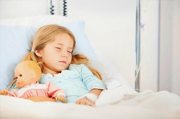 Ilustrasi anak yang terbaring sakit