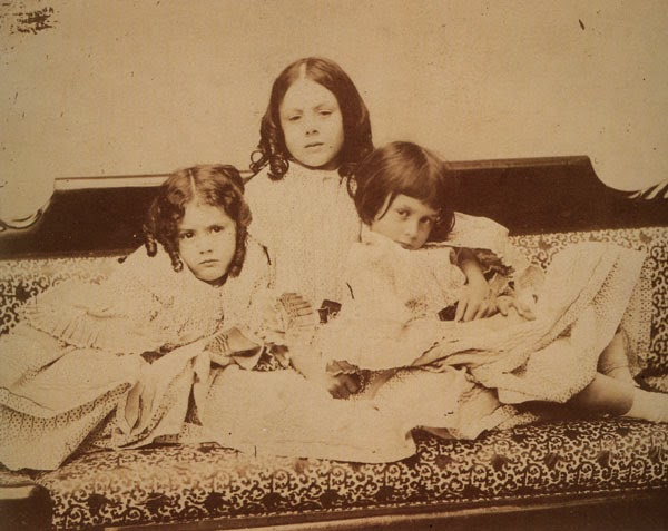 Lewis Carroll. Fine Art Photography. Liddell-Sisters (Alice right). 1858
