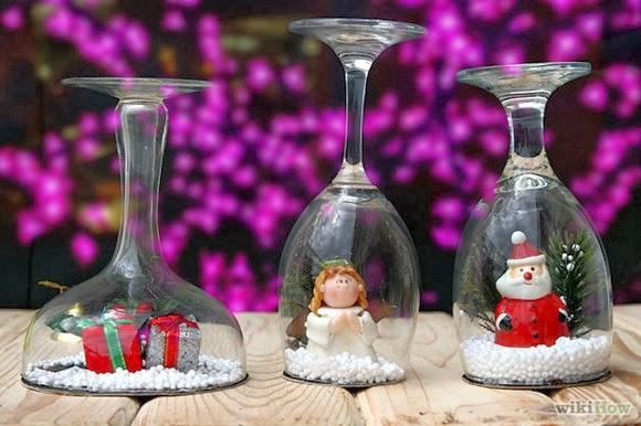 Новогодние украшения бокалов