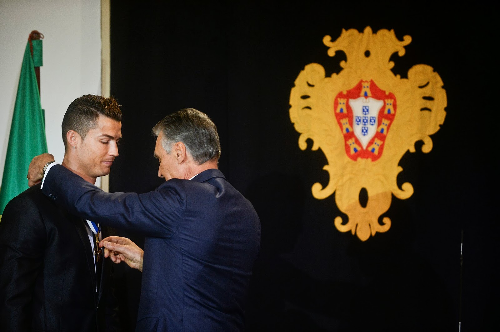 Anibal Cavaco Silva, Award, Belem Palace, Country, Cristiano Ronaldo, Football, Footballer, Grand Officer, Honour, Politics, Portugal, President, Prince Henry, Sports,
