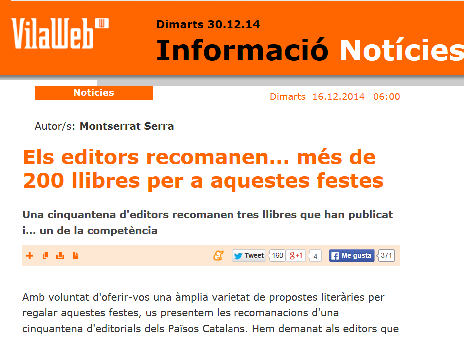 http://www.vilaweb.cat/noticia/4223919/20141216/editors-recomanen-200-llibres-aquestes-festes.html