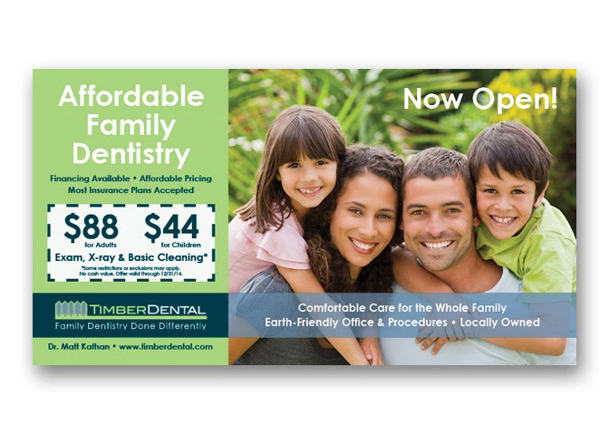 poscard design for dentist