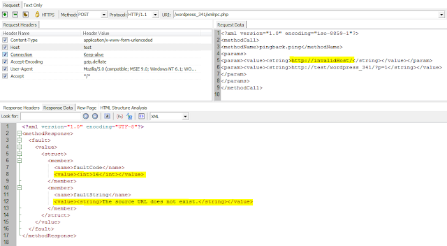 WordPress Pingback Vulnerability