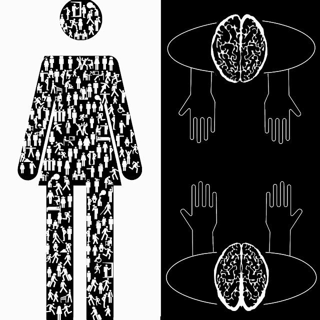 isotipos, cerebro mano, inteligencia social,