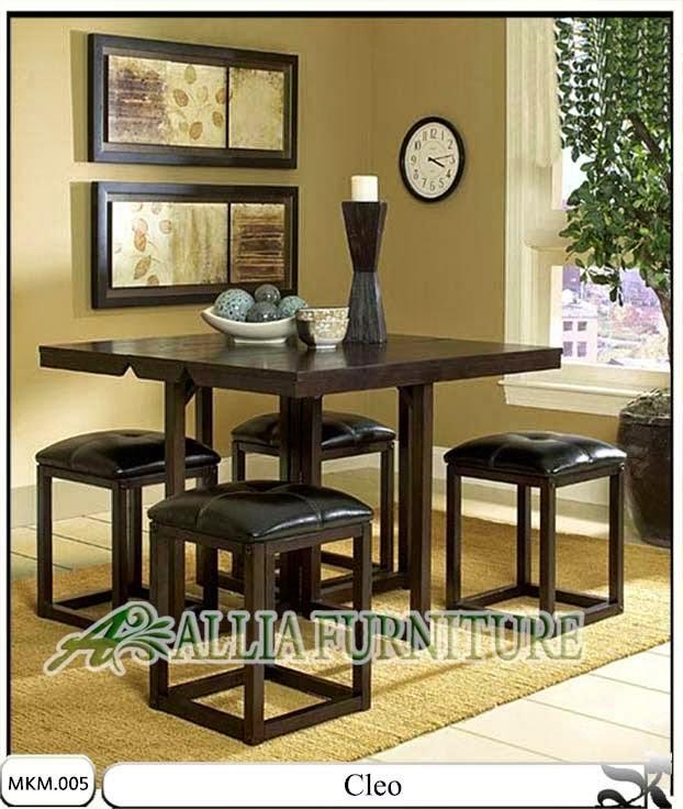 set minimalis kursi meja makan cleo