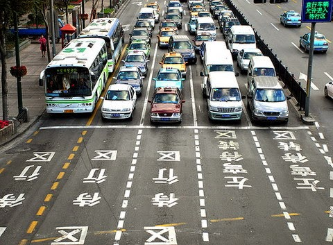 El incremento de coches y conductores en China