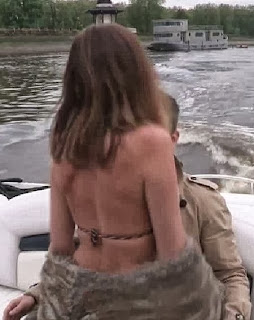 Lisa Snowdon animal bikini London river