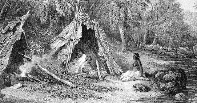 Australian aboriginal camp