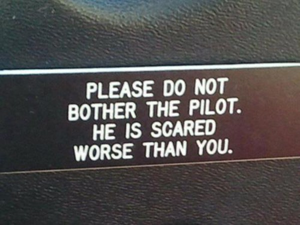 Sign on the Door of the Cockpit, funny sign, cockpit sign