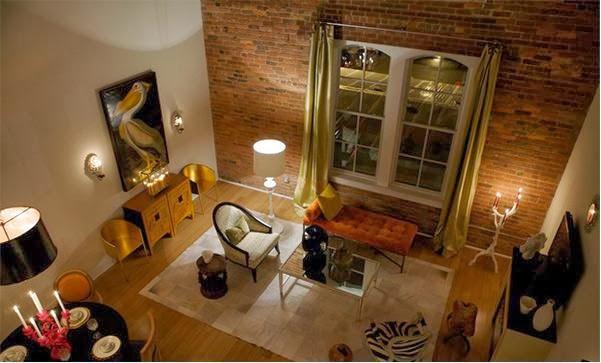 d coration salon avec des accents en briques d coration salon d cor de salon. Black Bedroom Furniture Sets. Home Design Ideas