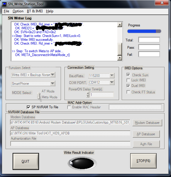 sn write station tool imei  software