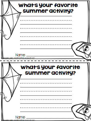 http://www.teacherspayteachers.com/Product/Summer-Time-Writing-Craftivity-FREEBIES-1256828