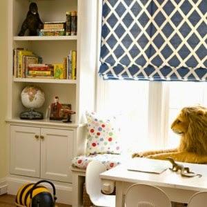 Roman blinds in nursery