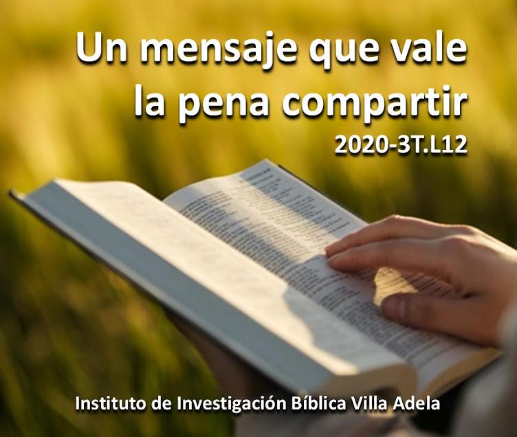 INSTITUTO DE INVESTIGACION BIBLICA DE LA IGLESIA ADVENTISTA DEL SEPTIMO DIA DISTRITO VILLA ADELA