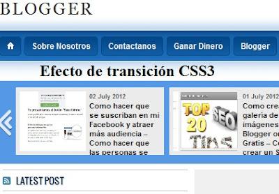 Como Añadir CSS3 efecto de transición a un menú desplegable