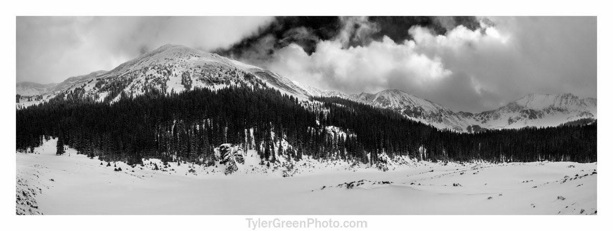 Mount Taylor rises above Williams Lake