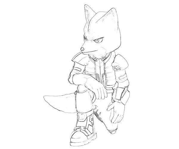 Star Fox Characters Coloring Pages