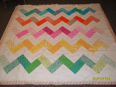 chevron pattern quilt