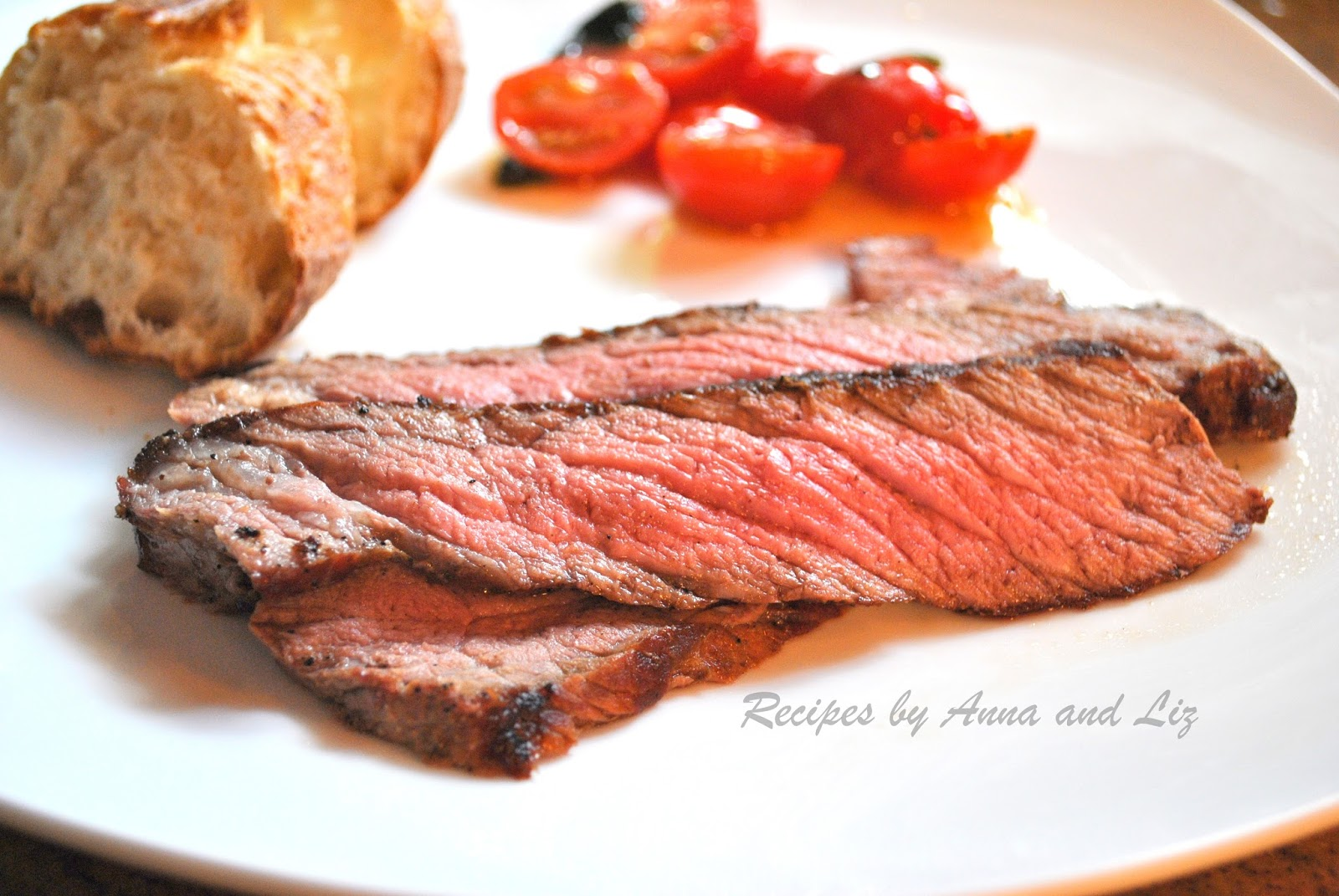 ... Recipes... by Anna and Liz: London Broil Steak Grilled to Perfection