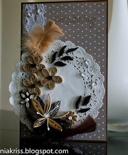 Шоколадно-карамельная открытка))