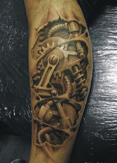 robotic forearm tattoo