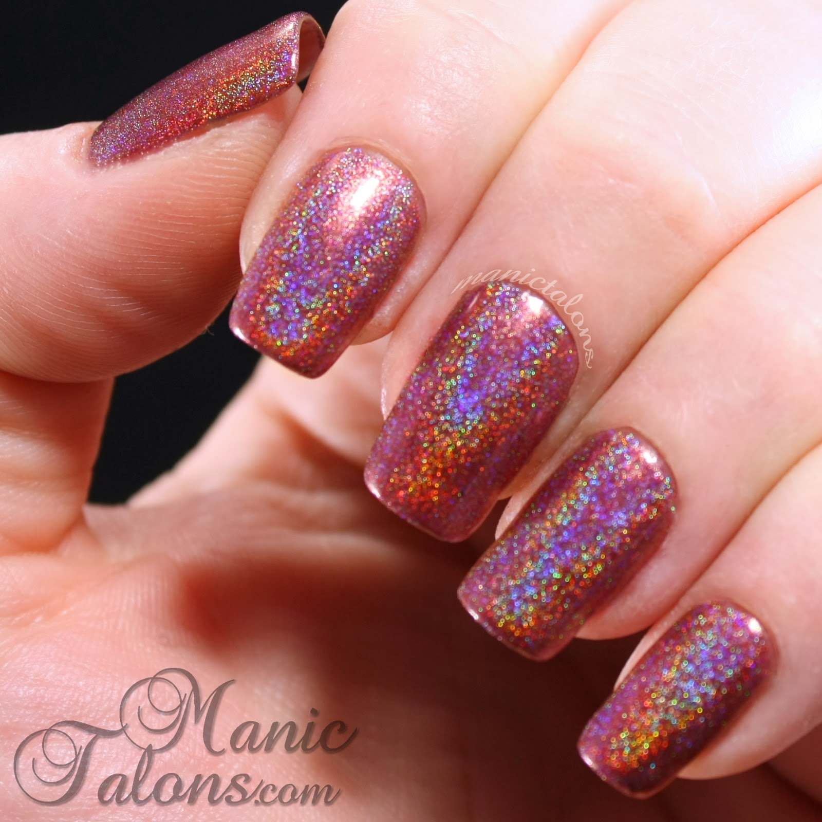 Girly Bits Auld Langs Wyne Swatch without top coat