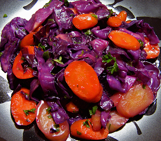 Carrots and Cabbage Plated