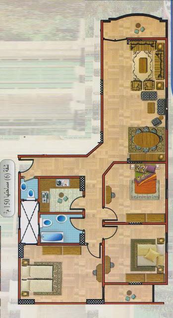 : تصميم منازل صغيرة 130 متر : منازل