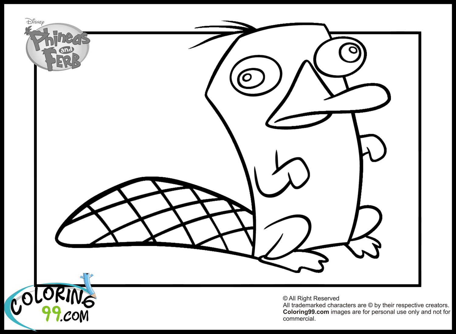 ferb and phineas coloring pages - photo#15