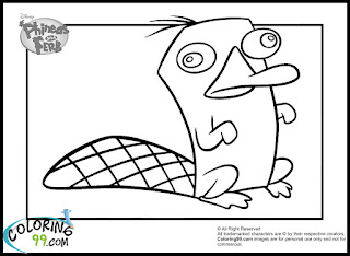 phineas and ferb perry the platypus coloring pages