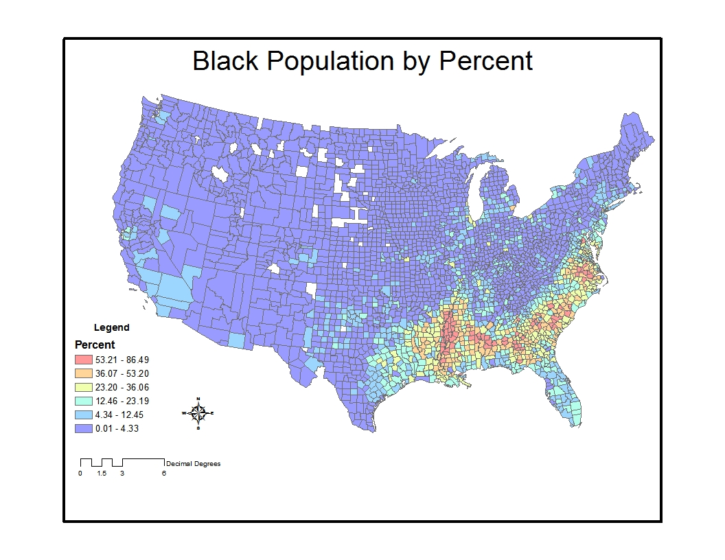 the next map shows the distribution of the asian population in the us by percent in contrast to the previous map there is a distinctly different
