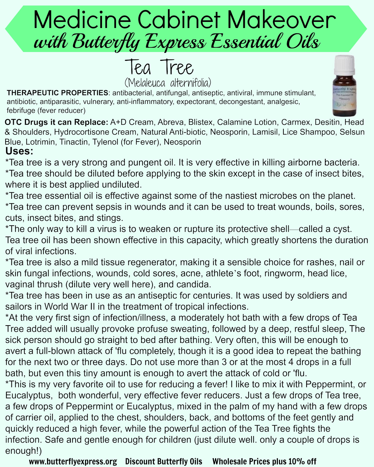 Medicine Cabinet Makeover: Using Essential Oils Instead of OTC Products-Tea Tree