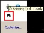 snipping tool in win xp