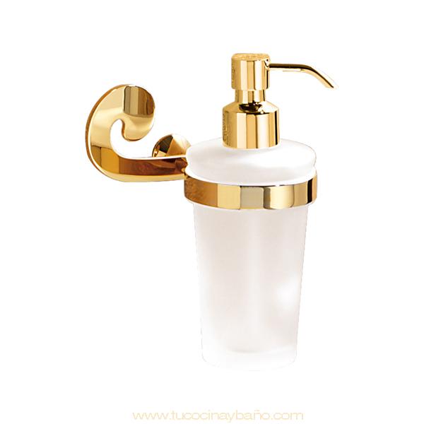 Dosificador baño vintage oro
