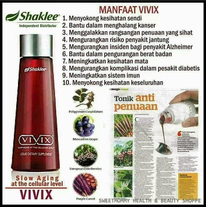 Manfaat vivix Shaklee Shaina Shop
