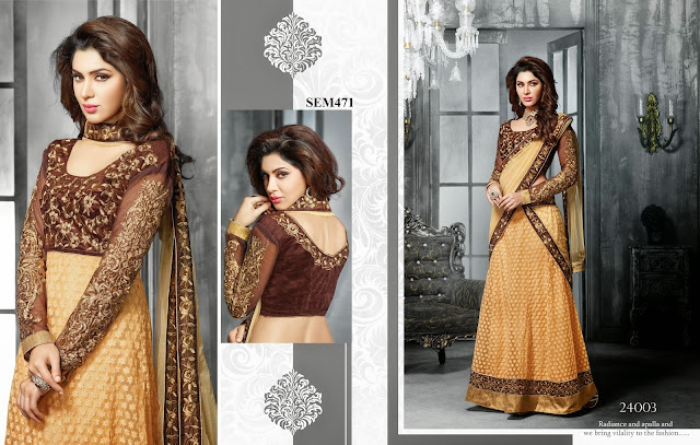 Buy New Designer Georgette Schiffli Work Anarkali Suit