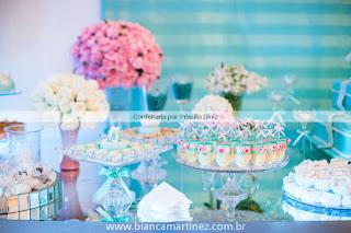 cha amanda 32 Chá de Cozinha Tiffanys inspired !!