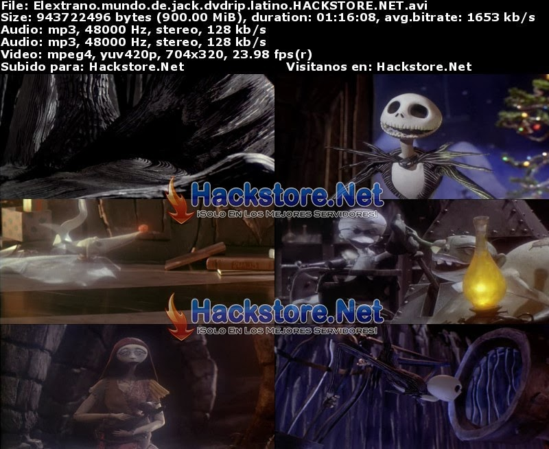 Captura El Extraño Mundo De Jack (1993) DVDRip Latino
