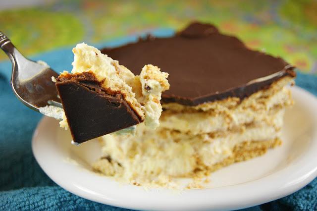 Creamy & delicious No-Bake Chocolate Eclair Dessert ~ always a HUGE hit.   www.thekitchenismyplayground.com