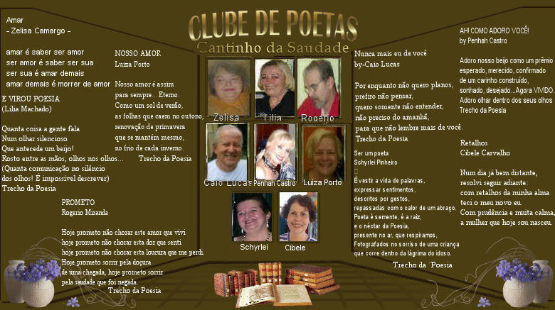 Elenco do Clube de Poetas-In Memoria