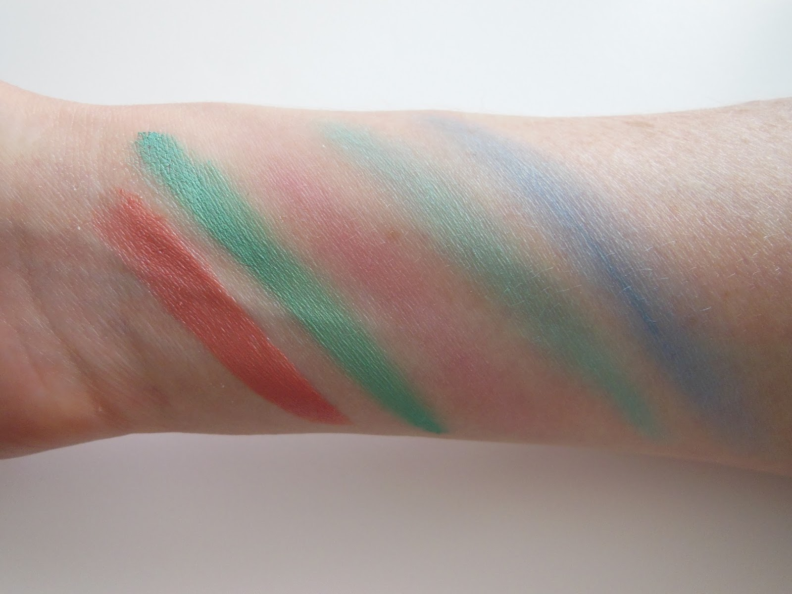 B. limited edition summer makeup swatches