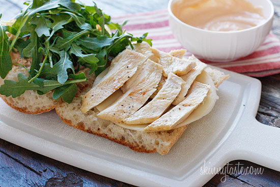 Chicken Panini with Arugula, Provolone and Chipotle Mayonnaise ...