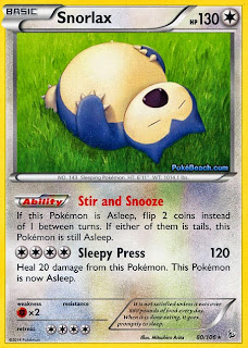 Snorlax Flashfire Pokemon Card