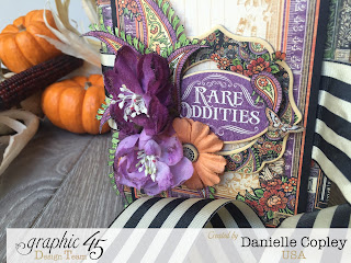 Halloween Rare Oddities Brag book Mini Album for Graphic 45 with a tutorial